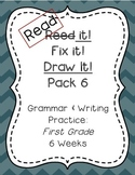 Read it! Fix it! Draw it! Pack 6, First Grade Grammar and Writing Practice