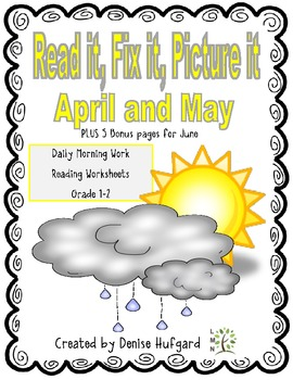 Read it, Fix it, Picture it: Daily Morning Work {April/May Edition}