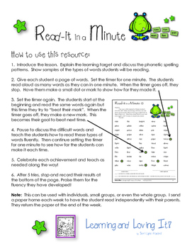 Read-it In a Minute - Take Home