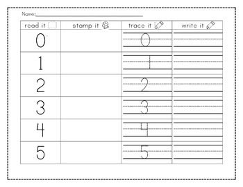 Read it, Stamp it, Trace it, Write it - Sight words, Numbers, and more!