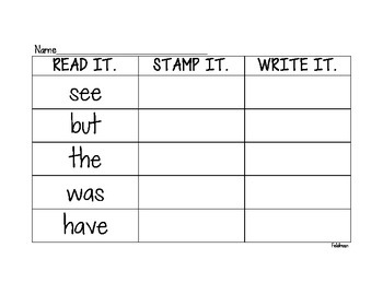 Read it. Stamp it. Write it.