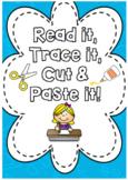 Read it, Trace it, Cut & Paste It *HIGH FREQUENCY WORDS* F