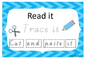 Read it, Trace it, Cut and Paste it-Vic Modern Cursive