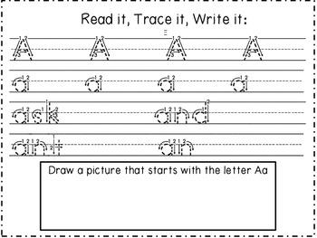 Read it, Trace it, Write it Handwriting Practice