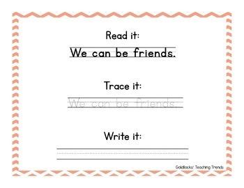 Read it, Trace it, Write it Stations