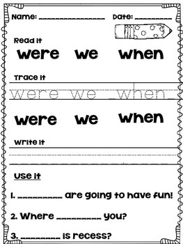 Read it, Trace it, Write it, Use it