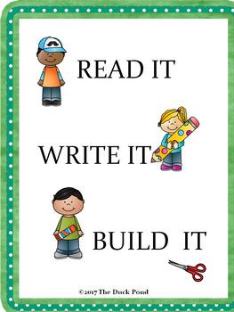 Read it! Write It! Build It!