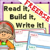 Read it, Build it, Write it mats