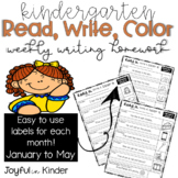 Read it, Write it, Color it - Weekly Writing Homework