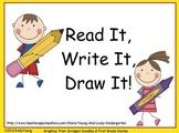 Read it, Write it, Draw it
