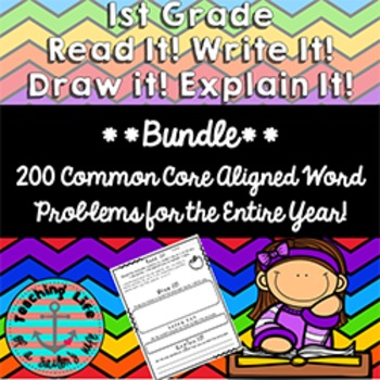 Word Problems for a Year - 200 Read it! Write it! Draw it! Explain it!