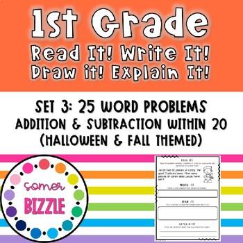Read it! Write it! Draw it! Solve it! Word Problems Set 3: