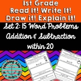 Read it! Write it! Draw it! Explain it! Word Problems set 2