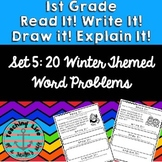 Read it! Write it! Draw it! Solve it! Word Problems Set 5: Winter Edition