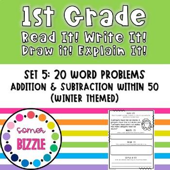 Read it! Write it! Draw it! Solve it! Word Problems Set 5: