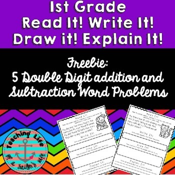 Read it! Write it! Draw it! Solve it! Word Problems Freebie