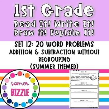 Read it! Write it! Draw it! Solve it! Word Problems Set 12: Double Digit + & -