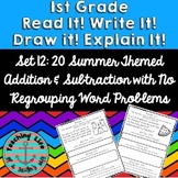 Read it! Write it! Draw it! Solve it! Word Problems Set 12