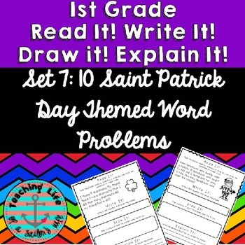 Read it! Write it! Draw it! Solve it! Word Problems Set 7: St. Patrick's Edition