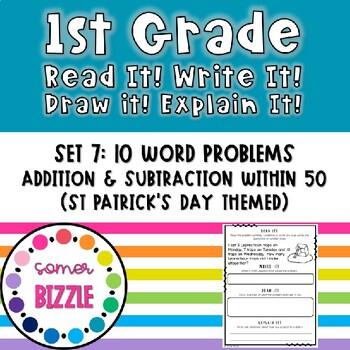 Read it! Write it! Draw it! Solve it! Word Problems Set 7: