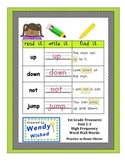 Read it. Write it. Find it: Unit 1-3 First Grade Treasures