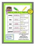 Read it. Write it. Find it: Units 4-6 First Grade Treasures Word Fluency