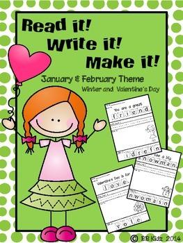Read it! Write it! Make it! January & February Theme {Winter/ Valentine's Day}