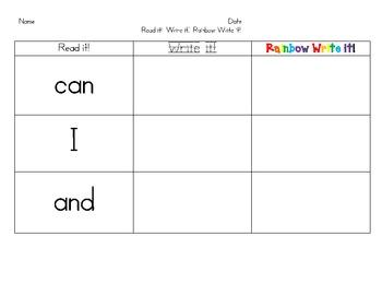 Read it!  Write it!  Rainbow Write it!  (Revised)
