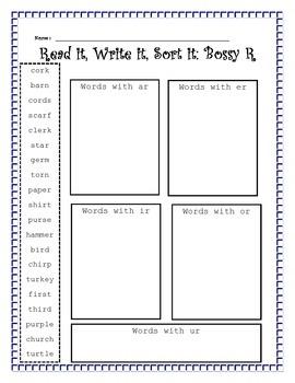 Read it, Write it, Sort it: Bossy R