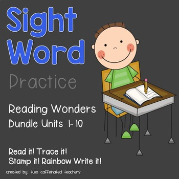 Read it! Write it! Stamp it! Kindergarten Sight Words Reading Wonders Bundle