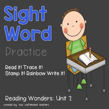Read it! Write it! Stamp it! Sight Words Kindergarten Reading Wonders Unit 1