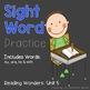 Read it! Write it! Stamp it! Sight Words Kindergarten Reading Wonders Unit 5