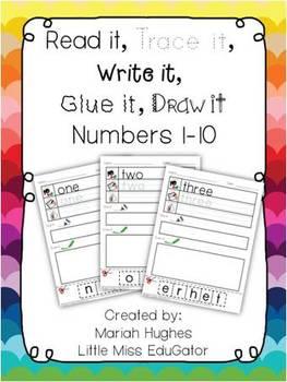 Read it, trace it, write it, glue it, draw it Numbers 0-10