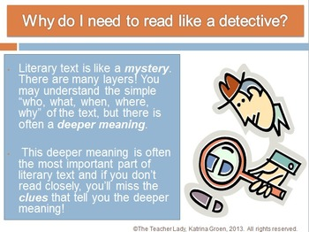 Read like a Detective: An Intro to Close Reading for the Common Core PowerPoint