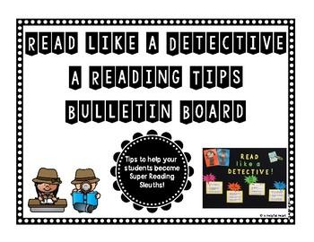 Read like a Detective! Bulletin Board *Back to School*