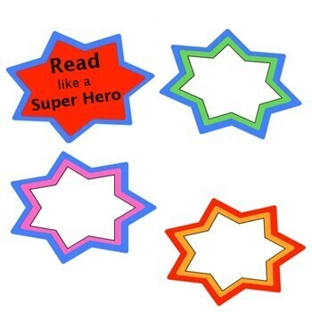 Read like a Super Hero:  Bulletin Board Posters
