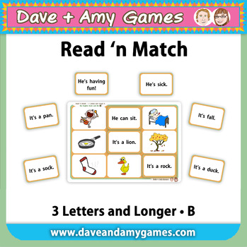 Read 'n Match 3 Letters and Longer B: My English Book and Me 4