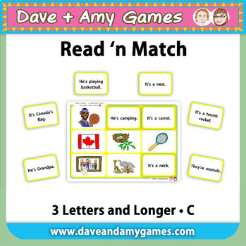 Read 'n Match 3 Letters and Longer C: My English Book and Me 4