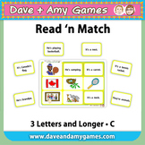 Read 'n Match: CVC Phonics C
