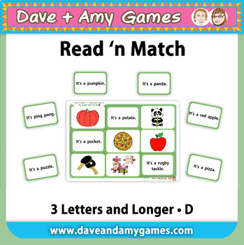 Read 'n Match: CVC Phonics D