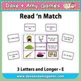 Read 'n Match: CVC Phonics E