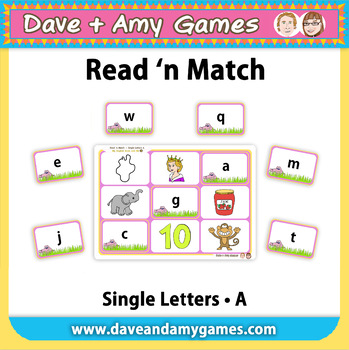 Read 'n Match: ABC Phonics A