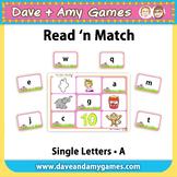 Read 'n Match: ABC Phonics A
