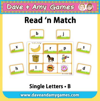Read 'n Match Single Letters B: My English Book and Me 3