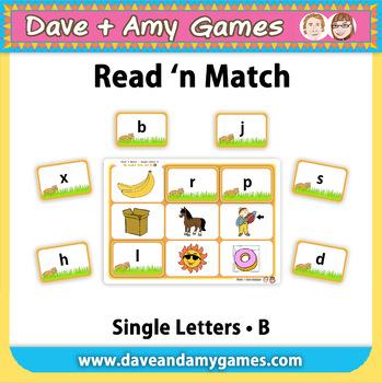 Read 'n Match: ABC Phonics B