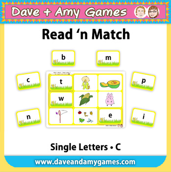Read 'n Match Single Letters C: My English Book and Me 3