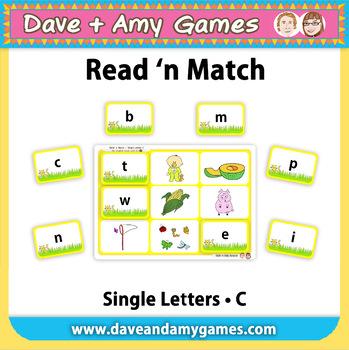 Read 'n Match: ABC Phonics C