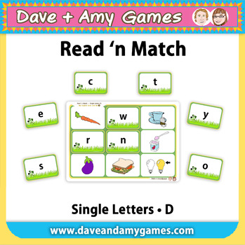 Read 'n Match Single Letters D: My English Book and Me 3