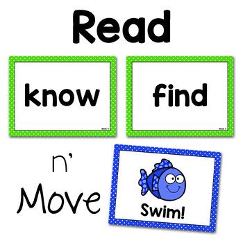 Read n' Move Wonders Sight Word PowerPoint Unit 4