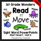 Read n' Move Wonders Sight Word PowerPoint Bundle